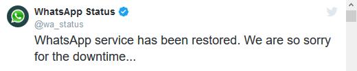 WhatsApp storing Werkt niet momenteel
