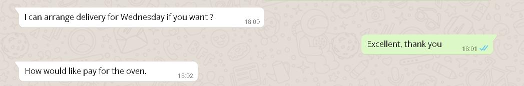 Whatsapp verzonden bericht